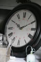 Clock white black