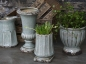 Preview: Blumentopf Vase auf Fuss antique opal finish H:16 cm