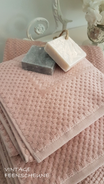 Badserie SPA SAUNA Liegetuch Velour dusty rose 80x200