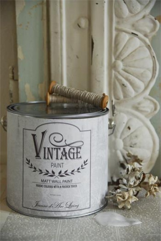 Vintage  Wand Kreidefarbe ANTIQUE CREAM 2,5 L