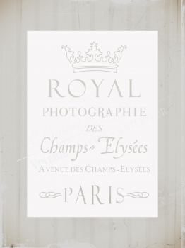 Schablone Text Photographie ROYAL Champs Elysees Paris wiederverwendbar