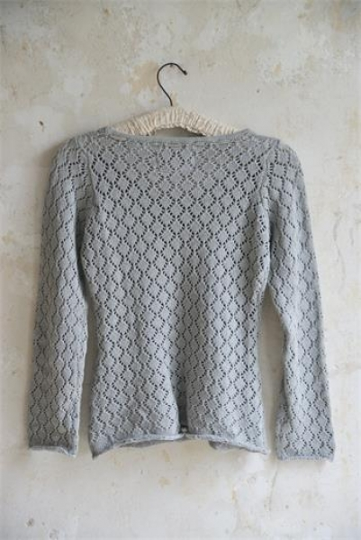Pulli Stick Bluse light grey M/L