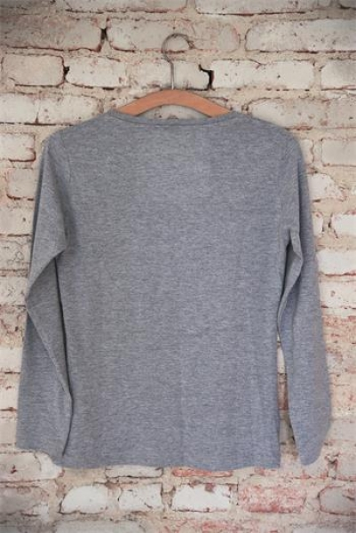 T-Shirt CC light grey petrol