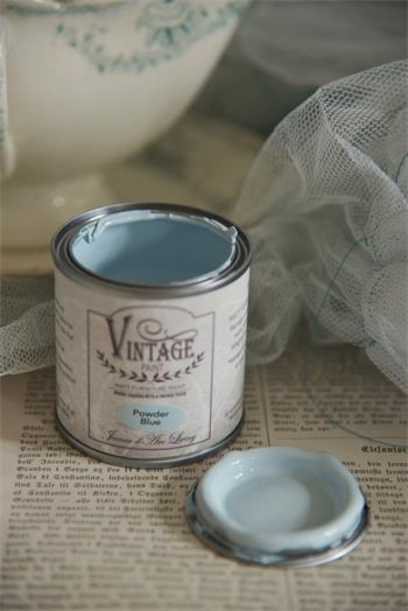 "Vintage Möbel Kreidefarbe ""powder blue"", 100 ml - Jeanne d'Arc"