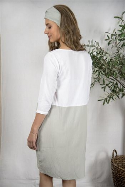 Kleid SISSEL Jeanne d'Arc Living white-light-petrol