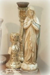 Madonna Maria Figur betend French Vintage